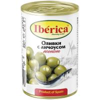 Оливки Iberica з ансоусом ж/б 280г