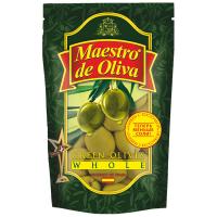 Оливки Maestro de Oliva зелені з/к 190мл