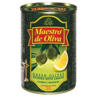 Оливки Маэстро дэ Олива зелені з лимоном 300г