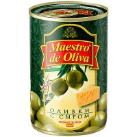 Оливки Маэстро дэ Олива зелені з сиром 300г
