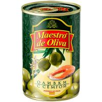 Оливки Маэстро дэ Олива зелені з сьомгою 300г