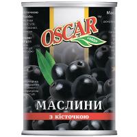 Оливки Oscar чорні з/к 300г