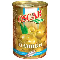 Оливки Oscar зелені з анчоусами 300г
