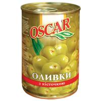 Оливки Oscar зелені з/к 300г
