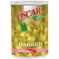 Оливки Oscar зелені з креветкою з/б 300г