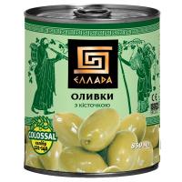 Оливки Еллада Colossal з/к ж/б 850мл