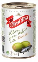 Оливки Diva Oliva зелені з тунцом з/б 314мл