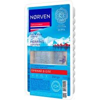 Оселедець Norven філе в олії з прянощами 250г