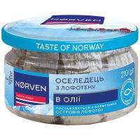 Оселедець Norven в олії 210г