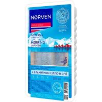 Оселедець Norven в олії з блакитною сіллю 250г