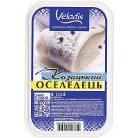 Оселедець Veladis в олії філе-шматочки Козацький 180г