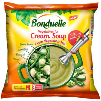 Суміш Bonduelle овочева Крем-суп Зелений заморожений продукт 400г