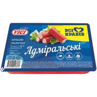 Палички крабові Vici Адміральські заморожені 240г