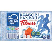 Крабові палички Водний мир Fitness заморожені 180г