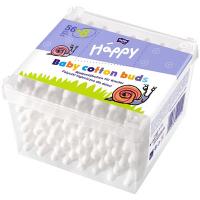 Палички ватні Happy для дітей 56+8шт. у пласт.коробці