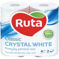 Туалетний папір Ruta Classic Crystal White, 4 шт.