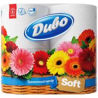 Туалетний папір Диво Soft Білий, 8 шт.
