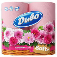 Папір туалетний Диво Soft+ Рожевий, 4 шт.