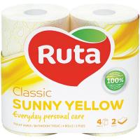 Папір туалетний Ruta Classic 2шар. 4шт. жовтий