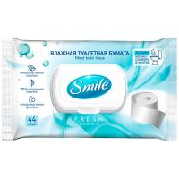 Папір туалетний Smile Sensitive/Fresh aroma вологий 44шт.