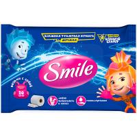 Туалетний папір вологий дитячий Smile Фіксики, 44 шт.