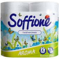 Туалетний папір Soffione Aroma Весняні Квіти, 4 шт.