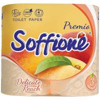 Папір туалетний Soffione персик 3-х шаровий 4шт.