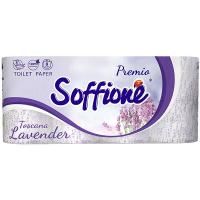 Папір туалетний Soffione Premio Lavander білий 3шари 8шт.