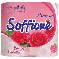 Папір туалетний Soffione рожевий 3-х шаровий 4шт.
