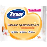 Папір туалетний Zewa Almond Milk вологий 42шт.
