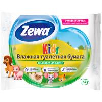 Туалетний папір вологий дитячий Zewa Kids Moist, 42 шт.
