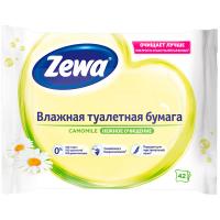 Туалетний папір вологий Zewa Natural Camomile, 42 шт.
