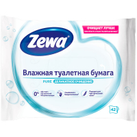 Туалетний папір вологий Zewa Pure, 42 шт.