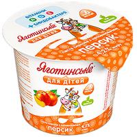 Паста Яготинська для дітей сиркова з наповнювачем персик 4,2% 100г