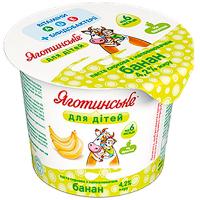 Паста Яготинська для дітей сиркова з наповнювачем банан 4,2% 100г