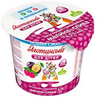 Паста сиркова Яготинське для дітей 4,2% малина-слива 100г