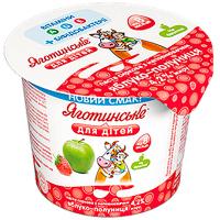 Паста сиркова Яготинське для дітей 4,2% яблуко-полуниця 100г