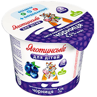Паста Яготинське для дітей сиркова Чорниця 4,2% 100г