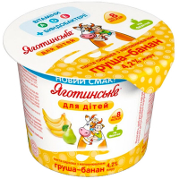 Паста Яготинське для дітей сиркова груша-банан 4,2% 100г