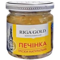 Печінка тріски Riga Gold натуральна с/б 85г