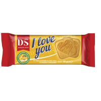 Печиво Домашнє Свято I Love You апельсин 50г