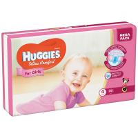 Підгузки Huggies Ultra Comfort д/дівчаток 4 8-14кг 66шт