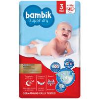 Підгузники Bambik Super Dry 3 midi 4-9кг 45шт.