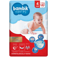 Підгузники Bambik Super Dry 4 maxi 7-18кг 45шт.