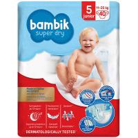 Підгузники Bambik Super Dry 5 junior 11-25кг 40шт.
