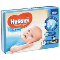 Підгузники Huggies Ultra Comfort для хлопчиків 5-9кг 80шт.