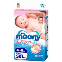 Підгузники Moony S 4-8кг 81шт