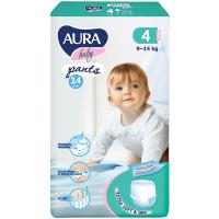 Підгузники-трусики Aura Baby 4/L 9-14кг 14шт.