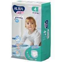 Підгузники-трусики Aura Baby 4/L 9-14кг 43шт.