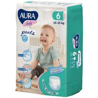 Підгузники-трусики Aura Baby 6/XXL 16-25кг 37шт.